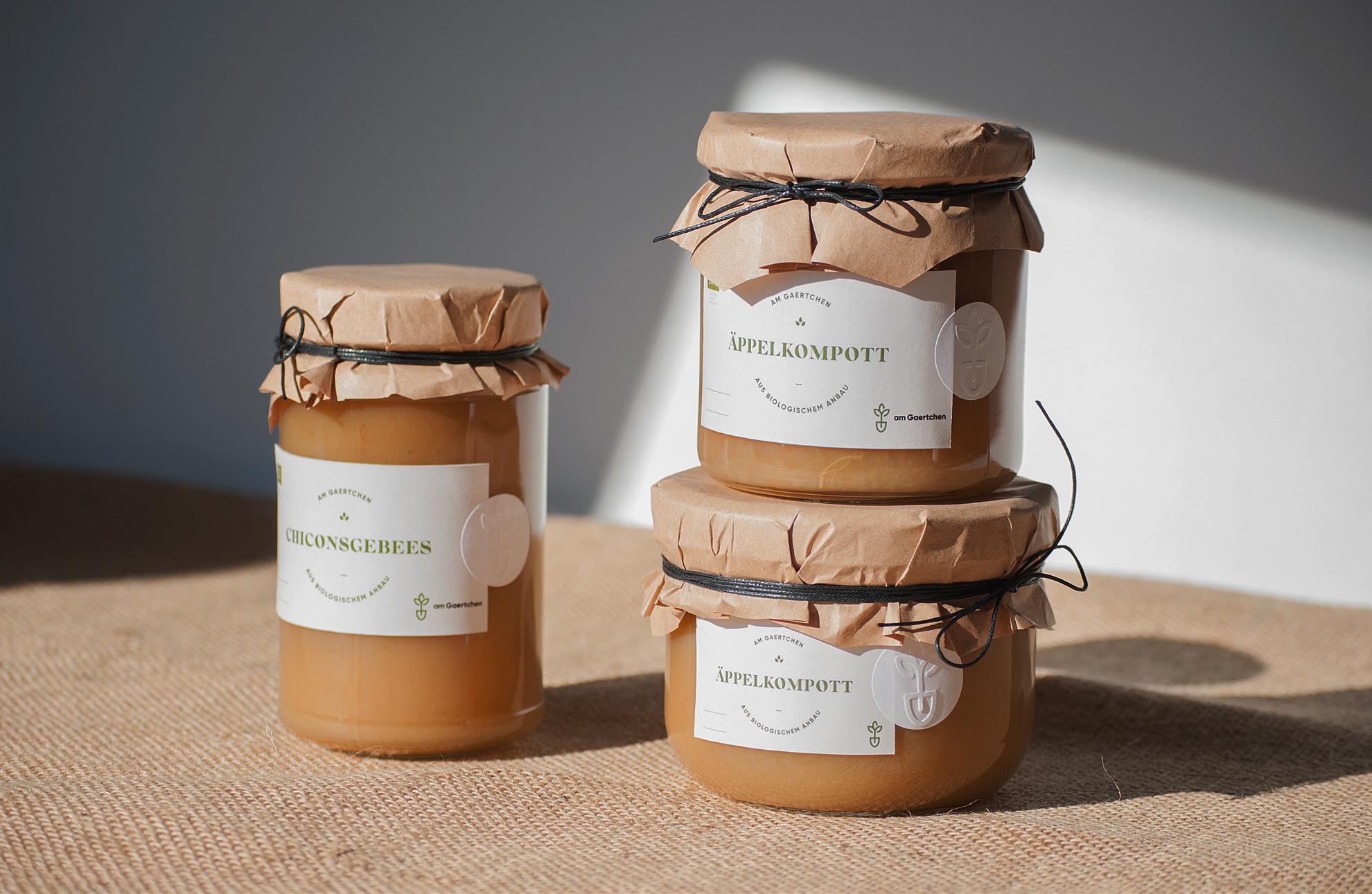 Am Gaertchen - packaging design, étiquettes