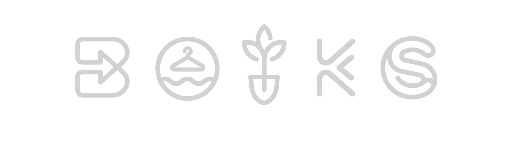 Forum pour l'emploi identité visuelle logos, Bummelbus, am Gaertchen, Haushellef, Klammschoul, Service aux citoyens