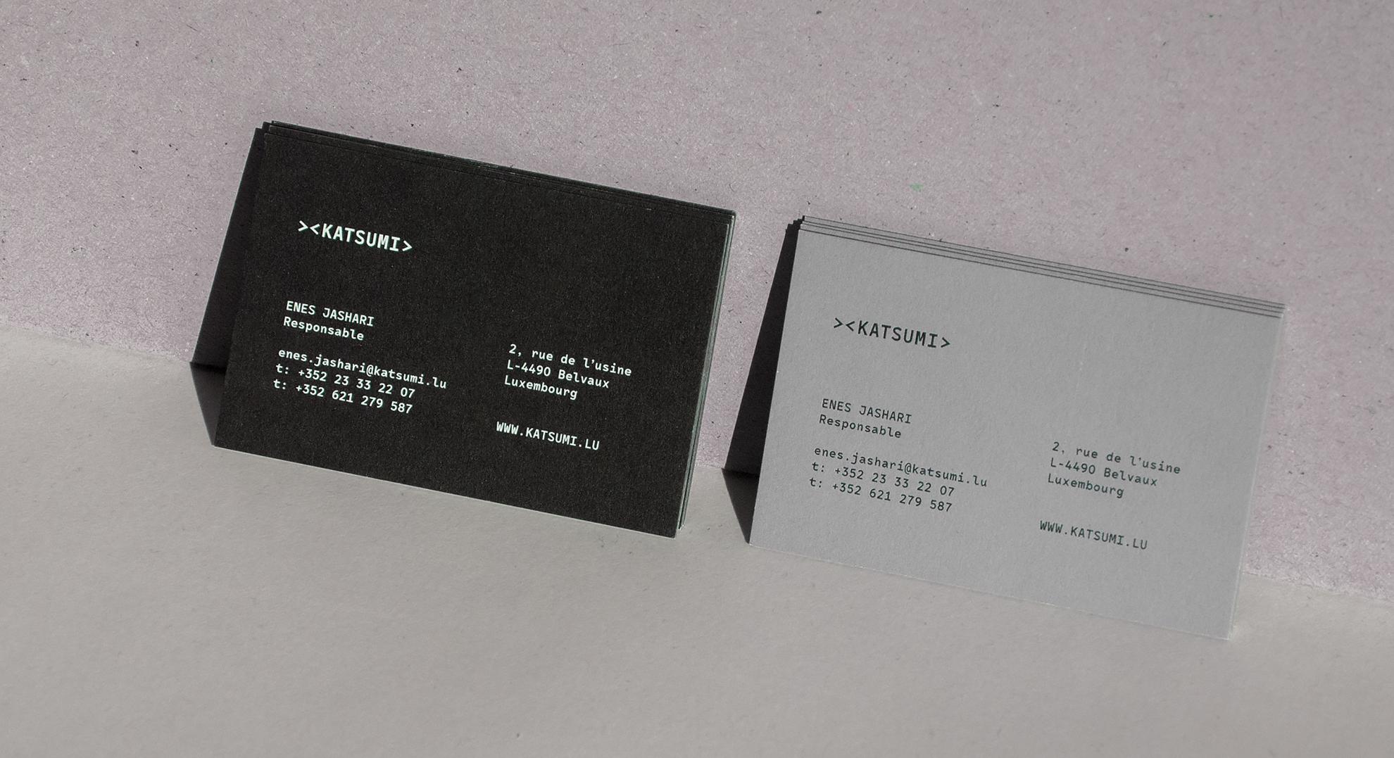 Katsumi identité visuelle - carte de visite