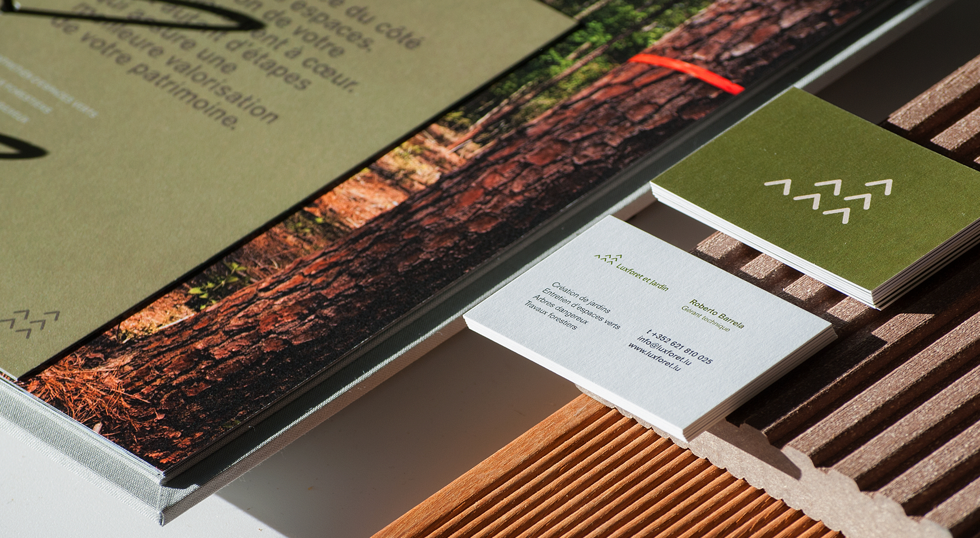 Luxforêt et Jardin - Identité visuelle, Logo, cartes de visite