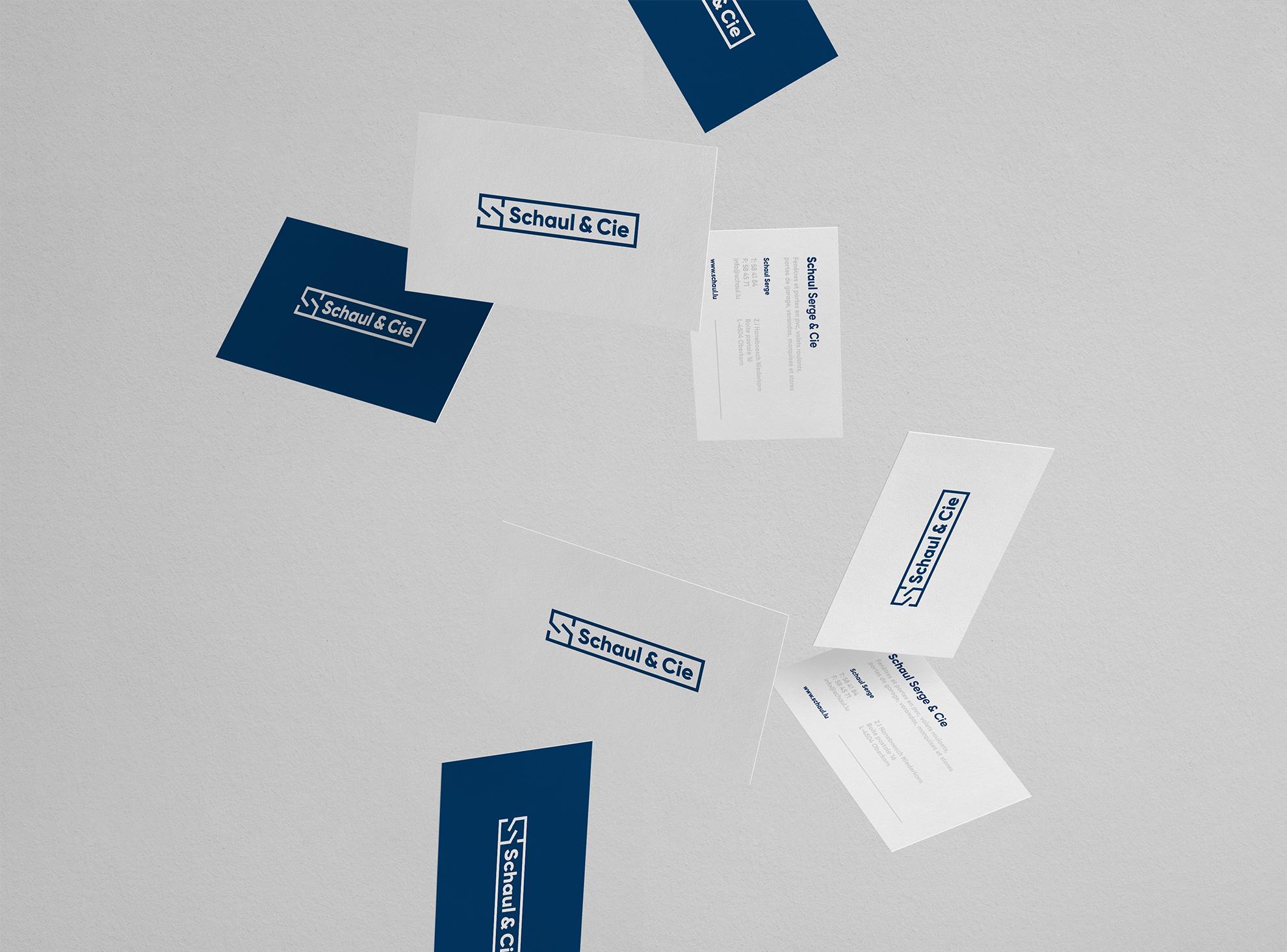 Schaul & Cie Logo - identité visuelle, cartes de visite